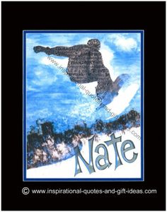 Personalized Snowboard Snowboarding Pictures Pics Print Boys Room Wall Art Decor | eBay
