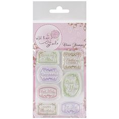 Wild Rose Studio Clear Stamp Sheet, 3.5 by 3-Inch, Vintage