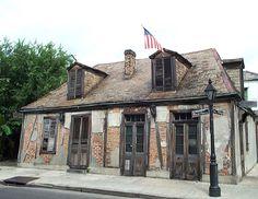 Best bar in New Orleans.  Lafitte's blacksmith bar.