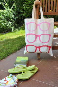 Újabb strandtáska ötlet – fessünk ombre!   Masni, Ombre painted bag DIY by Masni Decoration