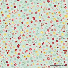 Fabric... The Sweetest Thing Petals on Blue by Zoe Pearn for Riley Blake Designs