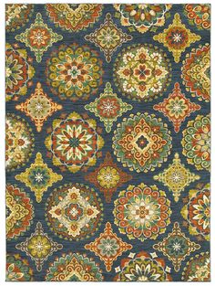 "Area Rug in style ""Sundial"" color Indigo - by Shaw Floors"