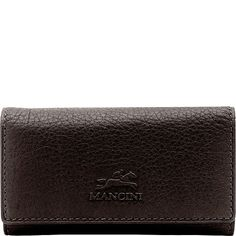 Buy the Mancini Leather Goods San Diego Collection: Men's Trifold Key Case Wallet with Detachable Key Fob at eBags - Carry your keys safely and stylishly inside this slim leather key case from Mancini Leather Goods. Leather Key Case, Front Pocket Wallet, Card Case, Keys, Brown, Cards, Key, Brown Colors, Maps