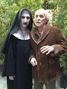 Valak & Bill Wilkins behind the scenes on #TheConjuring 2 (2016)