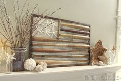 Summer Mantel idea. (http://theletteredcottage.net/summer-mantel-link-party/)