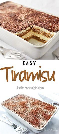 Easy Tiramisu Recipe - easy no-bake tiramisu recipe - You can find Italian desserts and more on our website.Easy Tiramisu Recipe - easy no-bake tiramisu recipe - No Bake Tiramisu Recipe, Tiramisu Recipe Without Eggs, Tiramisu Cake, Tiramisu Recipe Without Ladyfingers, Simple Tiramisu Recipe, Tiramisu Cookies, Tiramisu Recipe With Cream Cheese, Easy Tiramisu Cheesecake Recipe, Tiramisu Recipe With Alcohol