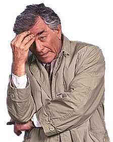 """Colombo,was a detective show on NBC from 1971-1978.He was always asking questions that drove criminals crazy,like """"Oh sir,just one more thing""""or One more Question.""""my wife says""""? I can hear him now.RIP Peter Falk. You made our nights during those years, so enjoyable."""