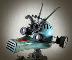 Assemblage Robot - Found Objects - ANDRO - The Weary Warrior Robot - Reclaim2Fame by Reclaim2Fame, via Flickr