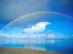 Rainbow & clouds.