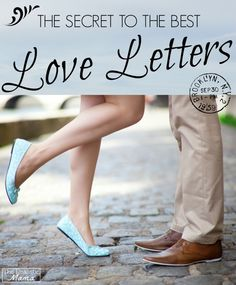 Write your man a love letter using of a few of these great ideas!