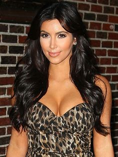 Long Hairstyle Ideas     Kim Kardashian at the Late Show with David Letterman.      Read more: Celebrity Long Hairstyles - Celebrities with Long Hair Ideas - Real Beauty