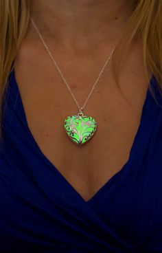 The Heart of the Forest - Green Necklace - Glowing Necklace - Glow Jewelry by Epic Glows
