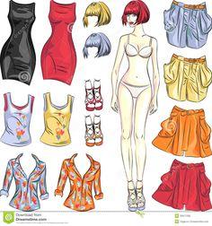 boneca fashion para vestir de papel - Pesquisa Google
