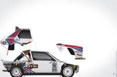 Henri Toivonen-Sergio Cresto, Lancia Delta S4, 1986, by Ricardo Santos.