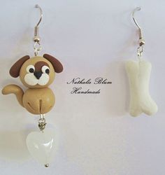 Pendientes hechos a mano con arcilla polimerica. earrings handmade with polymer clay.