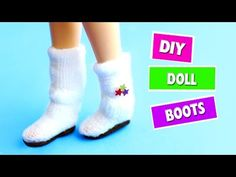 DIY | Miniature Doll Boots - Easy Doll Crafts - simplekidscrafts - YouTube