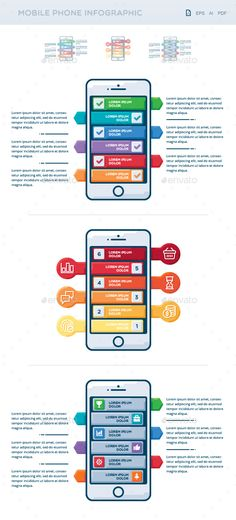 Infographic Tutorial infographic tutorial illustrator cs3 templates for word : Best infographic flat elements | Infographic, Flats and Templates