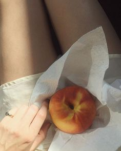 Form Ring and the giant peach #FineJewelryForFineLadies