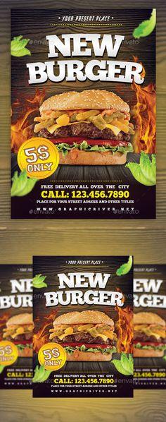 Burger Food Flyer Template Flyer Template, Template And Print   Food Flyer  Template