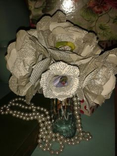 Old-book -  Paper-roses