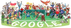 What's behind the Doodle of the World Cup Google Doodles, Google Doodle Today, Logo Google, Art Google, Football Doodle, Fifa World Cup 2018, Logos, Online Marketing, Marketing News
