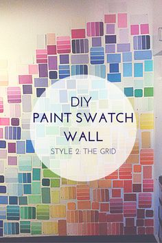 In a previous post I shared with you how my roommates and I initially decorated our wall with paint swatches when we moved in. In this post I shared a style in which we arranged the paint swatches ...