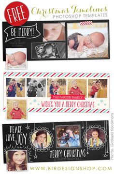 free christmas photoshop templates free timelines