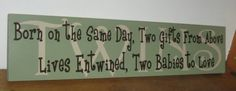 Baby Wooden Sign
