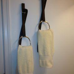 stirrups as towel holders- genius!