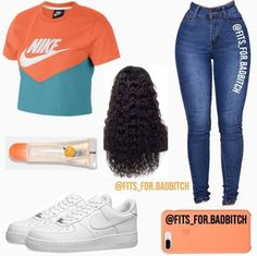 baddie outfits for school this is something a lil different i guess. but im going to school today im praying ill get picked up early . Cute Lazy Outfits, Swag Outfits For Girls, Cute Swag Outfits, Teenager Outfits, Teen Fashion Outfits, Dope Outfits, Trendy Outfits, Girl Outfits, Young Fashion