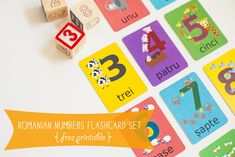 Gus On The Go Romanian Printable Numbers Flashcards Learning Apps, Baby Learning, Romanian Language, Learning Spanish For Kids, Printable Numbers, Vocabulary Games, Thinking Day, Teacher Resources, Kids