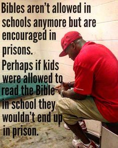 That is a possibility, but I believe if parents were more involved in school and taught from the Bible at home, it would be more beneficial than Bibles in schools. Politics, Baseball Cards, Quotes, Sports, Hs Sports, Dating, Tumbling Quotes, Excercise, Quotations