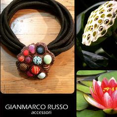 Gianmarco Russo - limited edition - collana in seta e fiore di loto -