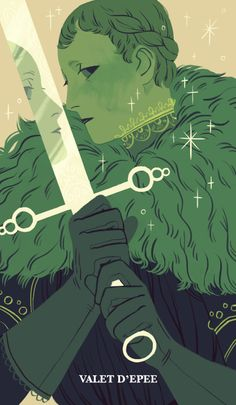 "sarakipin: "" Page of Swords """