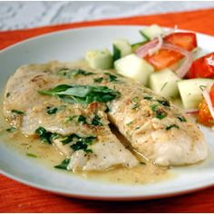 Dijon-Tarragon Cream Chicken Chicken breasts bathed in a delicate mustard tarragon sauce. A quick and simple recipe that you can serve on a weeknight but tastes like a French chef came to your house Turkey Dishes, Breast Recipe, Cream Of Chicken, Yum Yum Chicken, Main Meals, Food Dishes, Main Dishes, Chicken Recipes, Chicken Meals