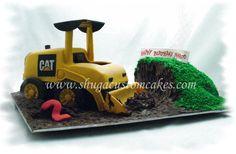 Cat loader cake