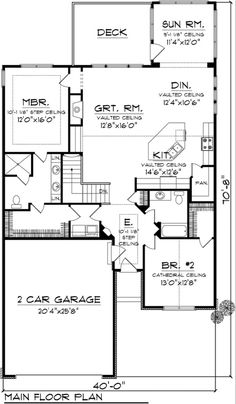 COOL house plans offers a unique variety of professionally designed home plans with floor plans by accredited home designers. Styles include country house plans, colonial, Victorian, European, and ranch. Blueprints for small to luxury home styles. 2 Bedroom House Plans, Ranch House Plans, New House Plans, Dream House Plans, Small House Plans, House Floor Plans, House Rooms, The Plan, How To Plan