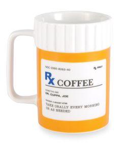 Hah need this for sure! 'Rx' Ceramic Mug