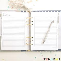 PenGems Planner Printable A5 Lined Notes