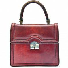 Vintage leather handbag.