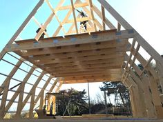 How Avrame built a House on the Other Side of the World Framing Construction, House Construction Plan, Family House Plans, Tiny House Plans, Cabin Design, House Design, A Frame Cabin Plans, Triangle House, Architectural House Plans