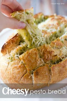FB page - Recipes 180 ♥ Cheesy Pesto Bread - http://www.livemoredaily.com/cheesy-pesto-bread/