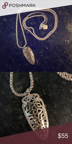 Kendra Scott Sienna Gold Filigree Necklace Beautiful Kendra Scott Necklace,  great condition , no scratches or blemishes barely worn. Comes with bag. Kendra Scott Jewelry Necklaces