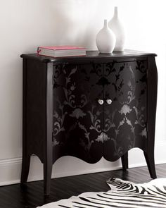 Noir sur noir - Midnight Damask Chest traditional dressers chests and bedroom armoires