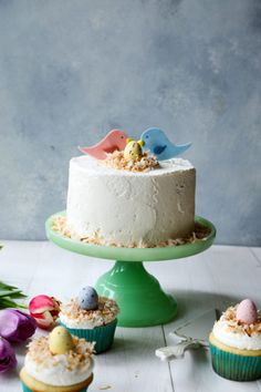 Orange Blossom and Almond Cake with Whipped Buttercream Frosting