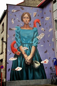 Street art by Milu Correch in Mechelen, Belgium