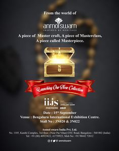 Launching our New collection at IIJS Premiere 2021. Contemporary Wedding Jewellery, Jewelry Show, Gold Jewellery Design, Temple Jewellery, Master Class, Product Launch, India, Collection, Goa India