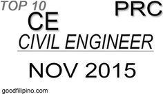 November 2015 Civil Engineer List of Board Exam Passers Board Exam, November 2015, Civil Engineering, Civilization, Announcement, Boards, Top, Planks, Crop Shirt