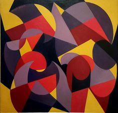 """socialclaustrophobia: """" Giacomo Balla (Italian, 1871–1958), Tick Tack, 1925. Oil on canvas, 77 × 77 cm. """""""