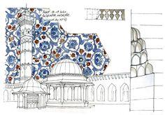 Syrie, 2010 by gerard michel Architecture Blueprints, Islamic Architecture, Art And Architecture, Architecture Details, Architecture Drawing Sketchbooks, Architecture Concept Drawings, Islamic Art Pattern, Pattern Art, Building Sketch
